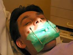 Patient ready for root canal treatment