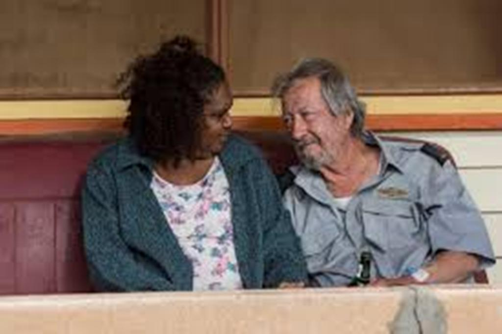 Polly (Ningali Lawford-Wolf  ) and Rex (Michael Caton) in Last Cab to Darwin Picture courtesy of abc.net.au